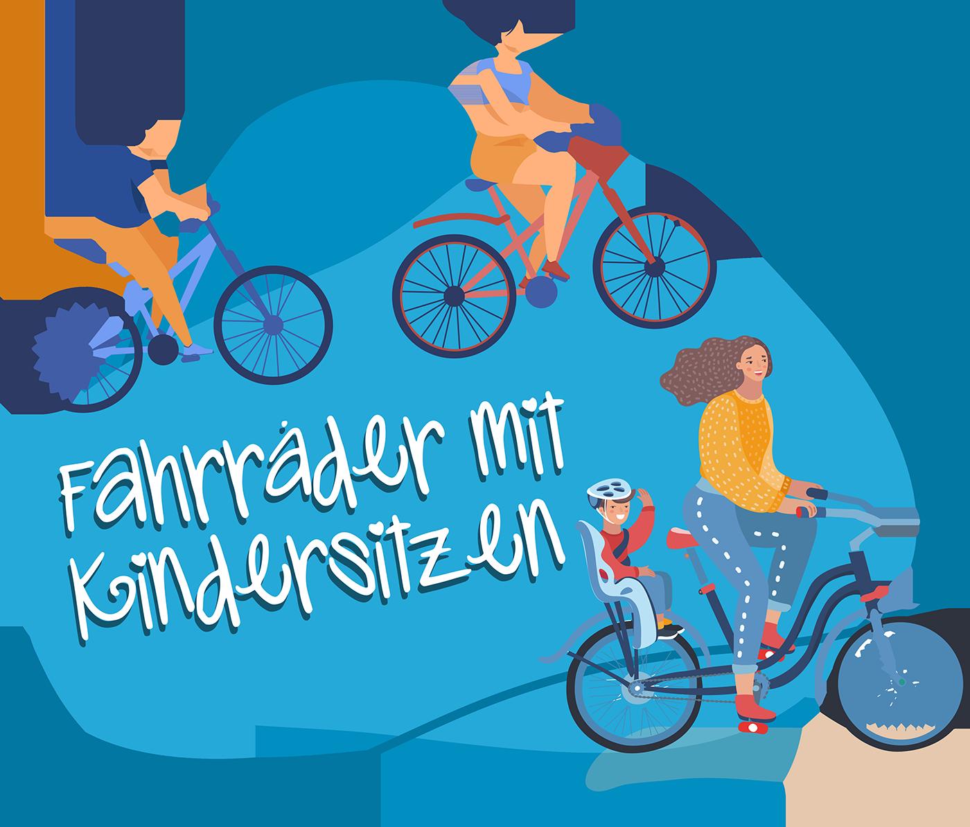Fahrräder mit Kindersitzen