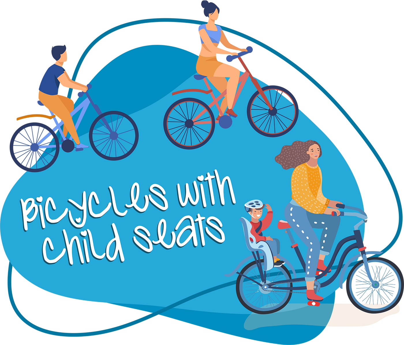 Bicycles with child seats