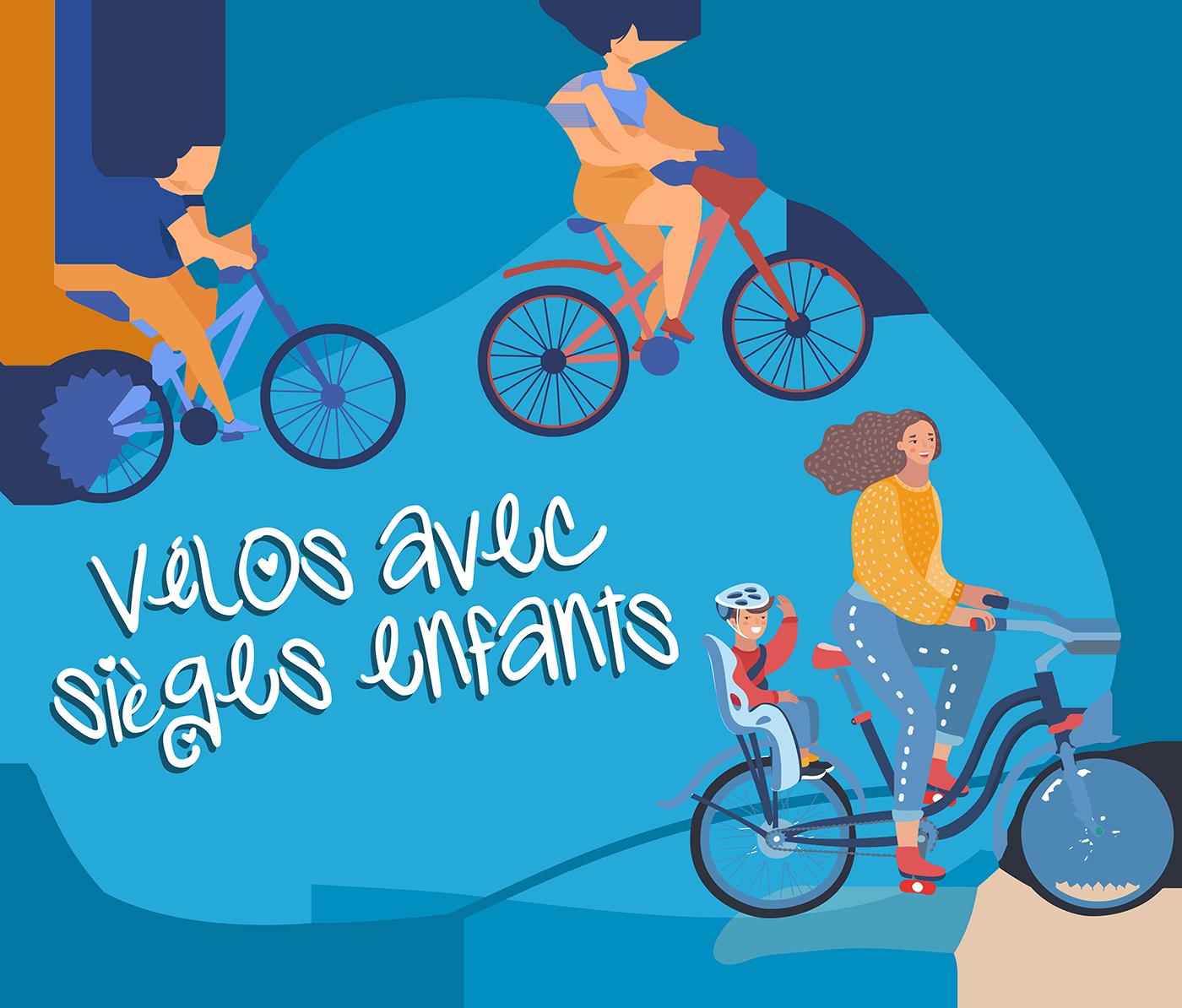 Vélos avec sièges enfants