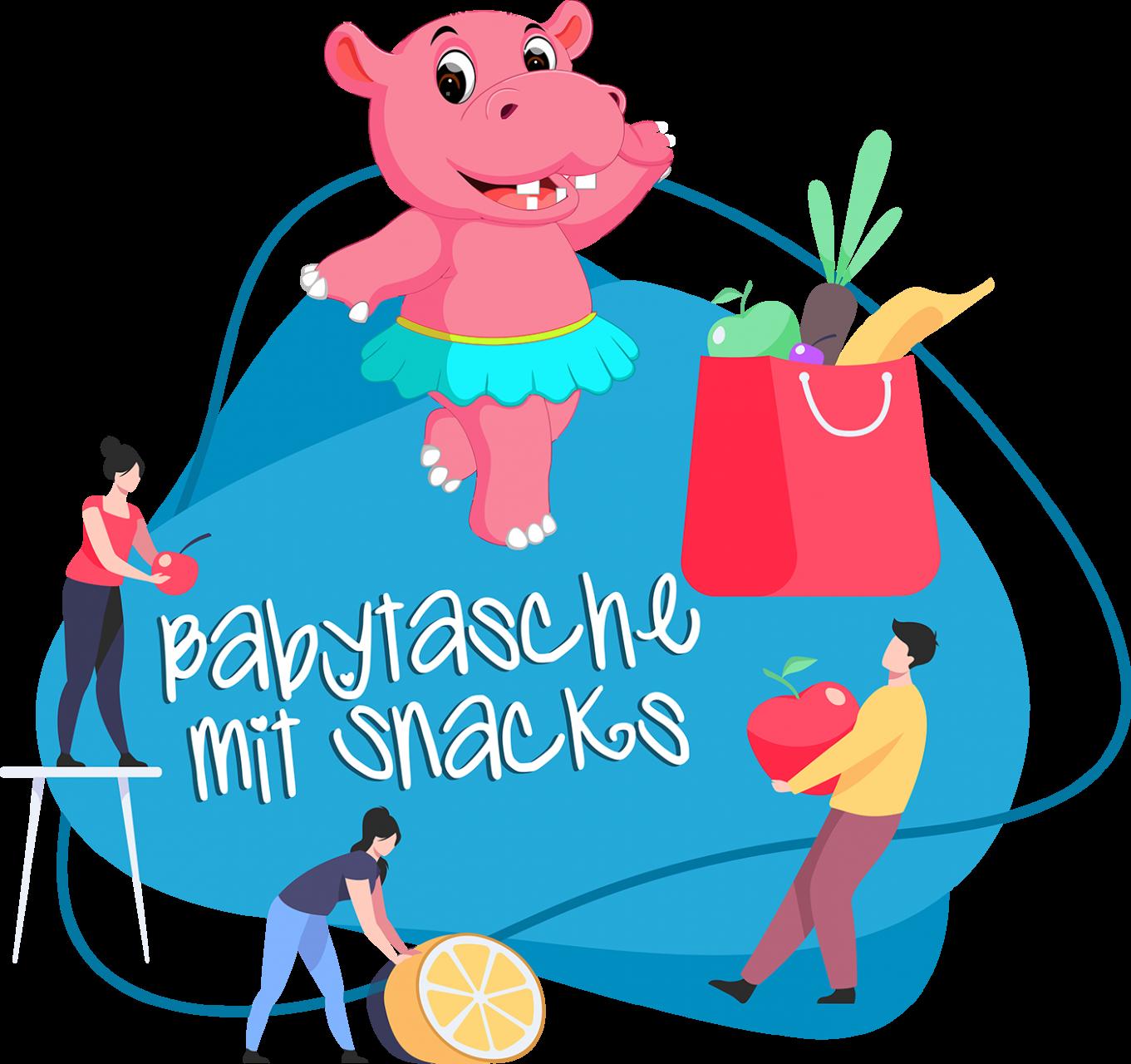 Babytasche mit Snacks