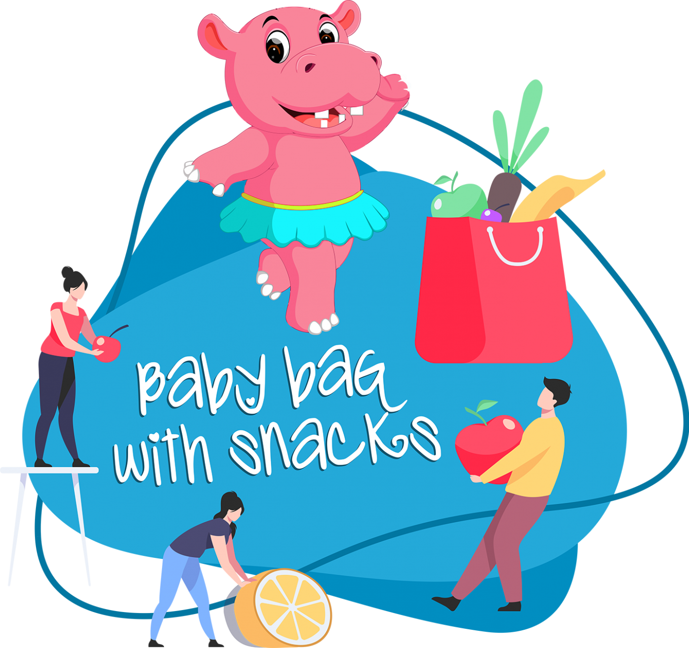 Baby bag with snacks