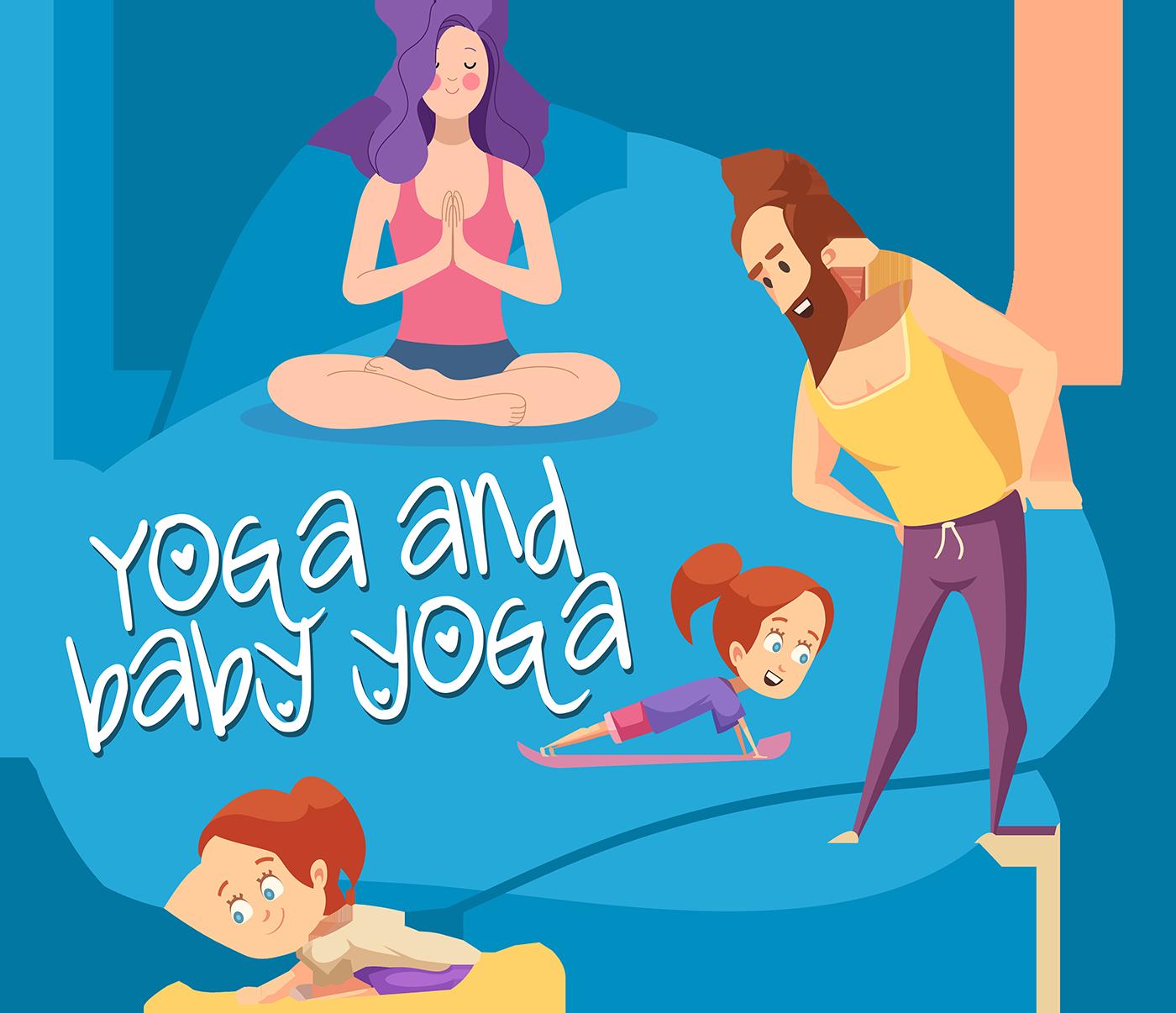 Yoga and baby yoga
